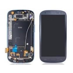 Samsung S3 LCD + touchscreen compleet blauw