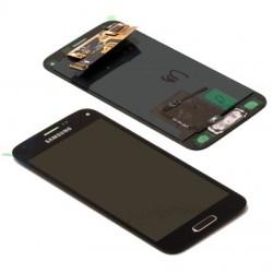 Samsung S5 LCD + touchscreen compleet blauw